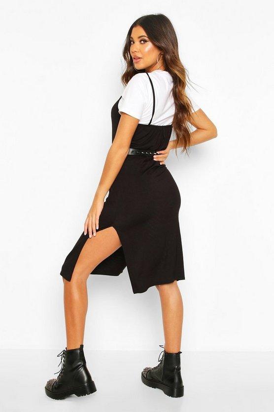 Jersey Slip Midi Dress