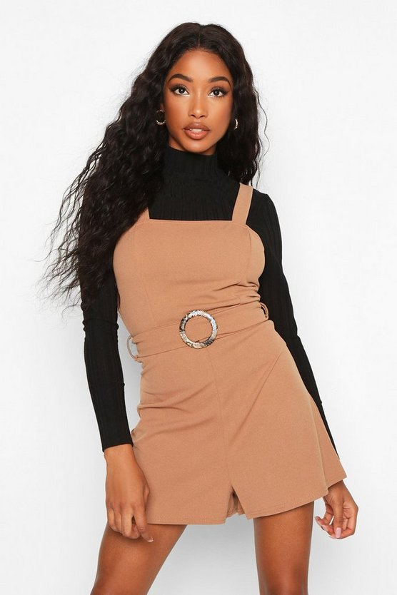 Snake Buckle Pinafore Playsuit