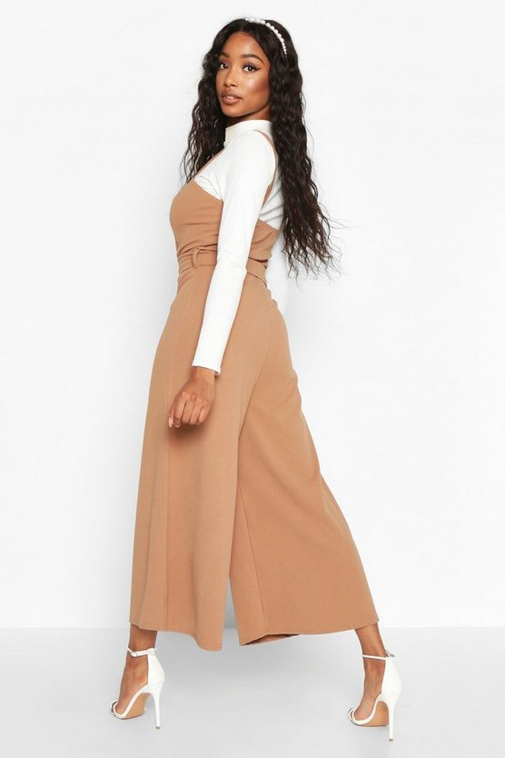 Snake Buckle Pinafore Jumpsuit