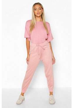 Womens Rose Oversized T-Shirt & Jogger Co-Ord