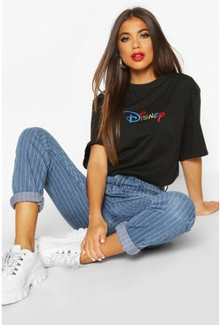 Black Disney AW19 Season Embroidered T-shirt