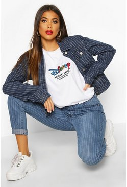 T-shirt Disney AW19 Season ricamata, Bianco, Femmina