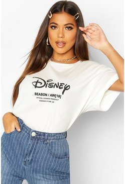 Womens Ecru Disney Princess Ariel Back Print T-shirt