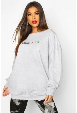 Grey Disney Pixar Embroidered Oversized Sweat