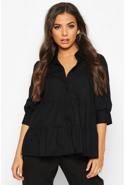 Black Tiered Shirt