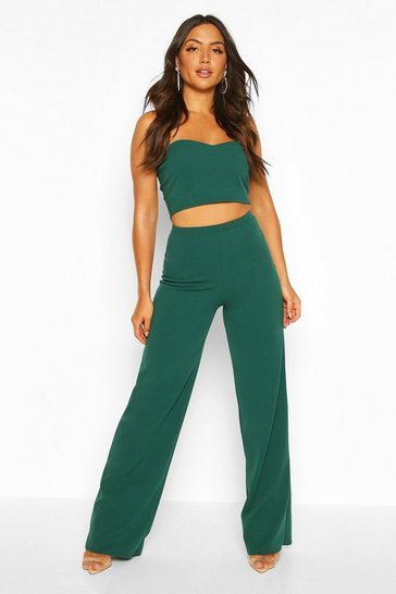 Emerald Bandeau Bralet & Wide Leg Trouser Co-ord