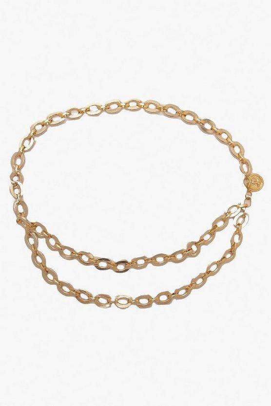 Metal Ring Detail Waist Belt