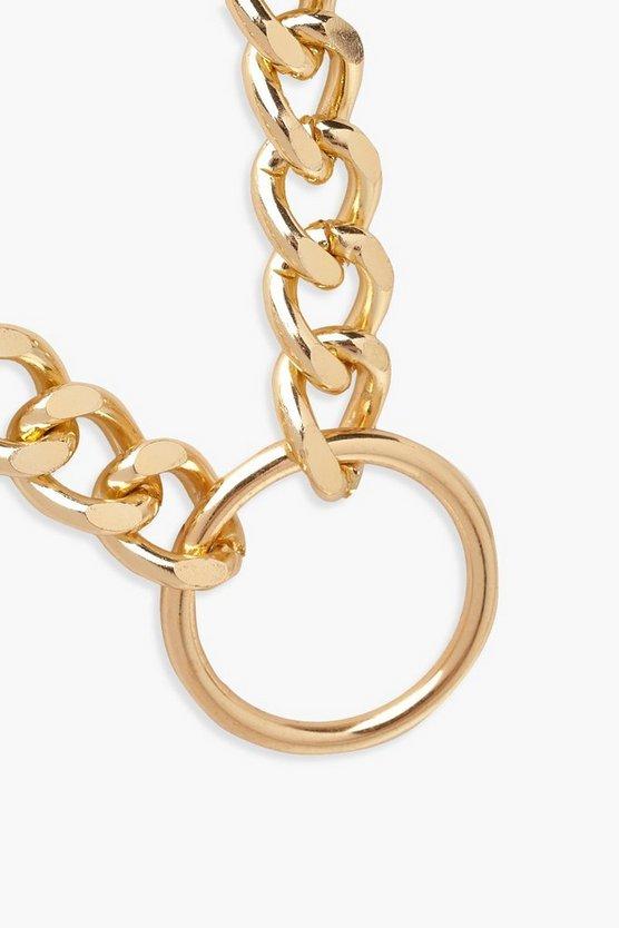 Circle Ring Chain Choker
