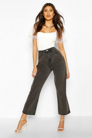 Washed black High Waist Boyfriend Jean