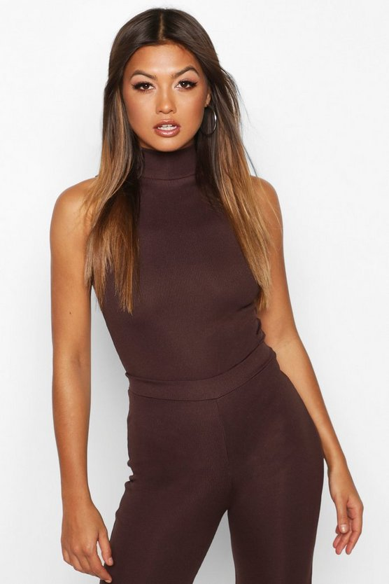 Turtle Neck Knitted Bodysuit