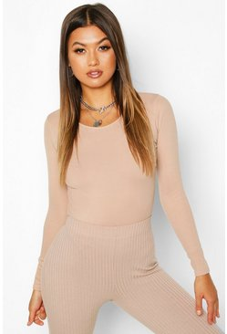 Stone Scoop Neck Knitted Bodysuit
