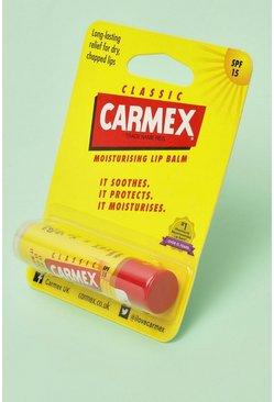 Womens Yellow Carmex Moisturising Lip Balm Original Stick