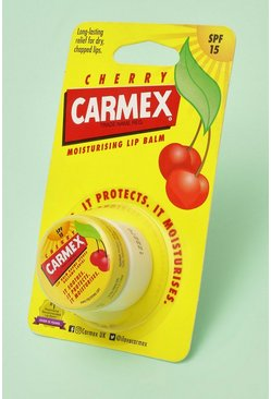 Womens Red Carmex Moisturising Lip Balm Pot - Cherry