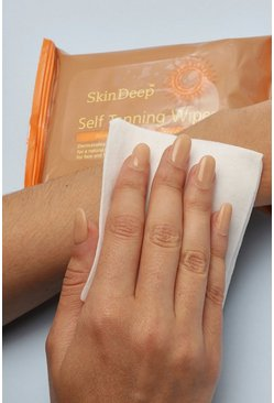 Womens Brown Skin Deep Self Tanning Wipes