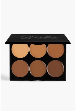 Sleek Cream Contour Kit Dark 12g, Brown, Donna