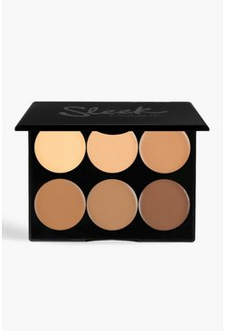 Sleek Cream Contour Kit Medium 12g, Brown, Donna