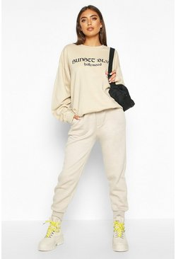 Womens Sand Sunset BLVD Slogan Sweat