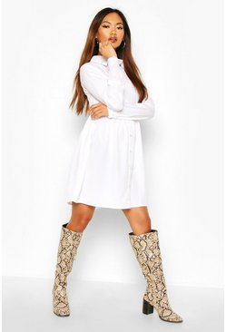 Dam White Shirt Smock Dress