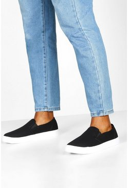 Dam Black Basic Slip On Skater Trainers