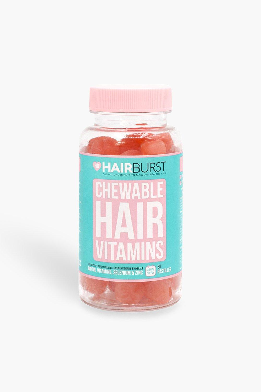 womens hairburst chewables hair vitamins - pink - one size