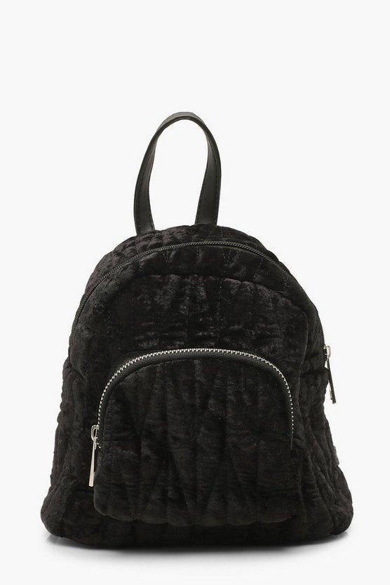 Velvet Quilted Mini Rucksack
