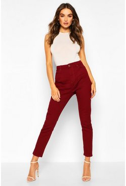 Berry High Waisted Skinny Jean