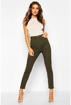 Khaki High Waisted Skinny Jean