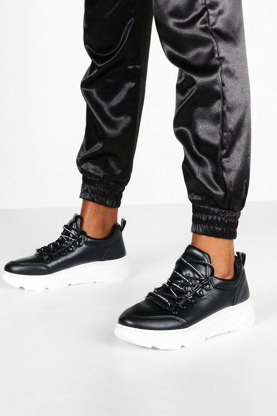 Double Ring Lace Up Chunky Trainers