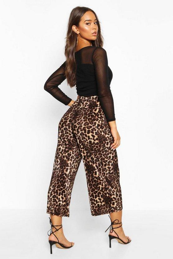 Leopard Plisse Culottes