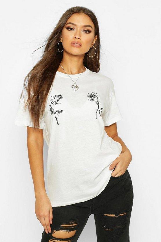 Rose Double Print T-Shirt