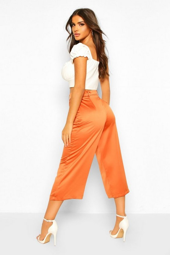 Pocket Side Woven Culottes