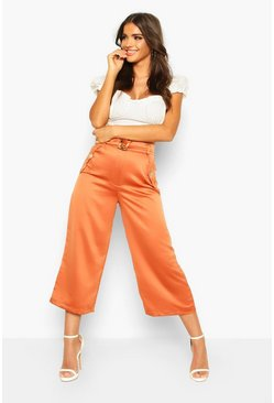 Dam Terracotta Pocket Side Woven Culottes