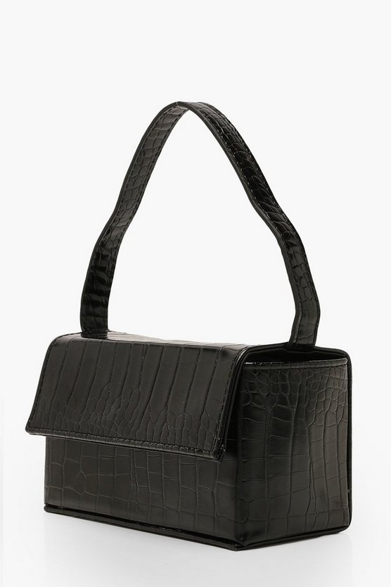 Croc Rectangle Box & Cross Body Strap Bag