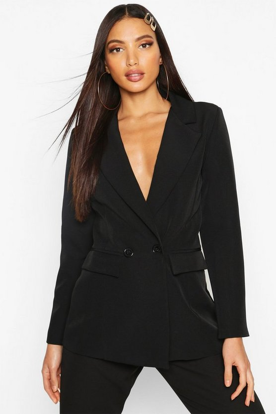 Blazer à Double Boutonnage by Boohoo