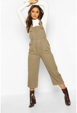Womens Light khaki Horn Buckle Utility Dungaree