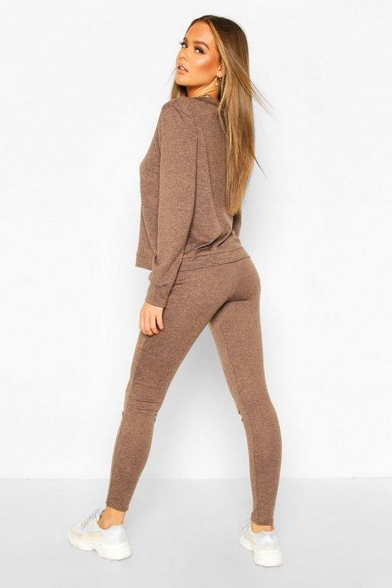 Long Sleeve T-Shirt & Jogger Knitted Lounge Set