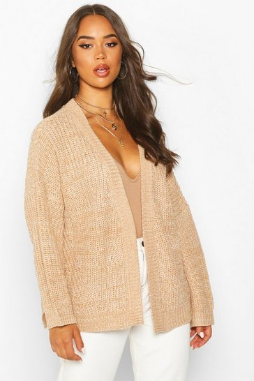 Womens Biscuit Oversized Boxy Cardigan