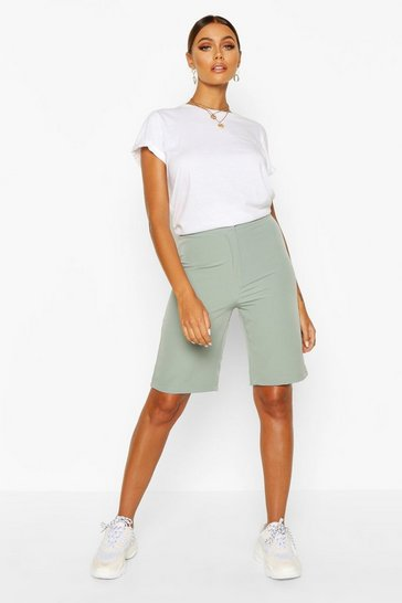 Womens Sage Tailored City Short