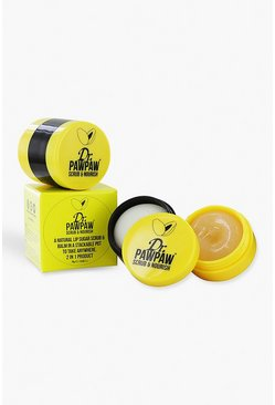 Womens Yellow Dr Paw Paw Scrub & Nourish 2 In 1