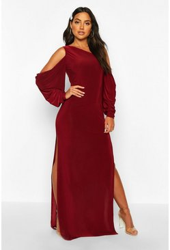 Womens Berry Kimono Sleeve Maxi Dress