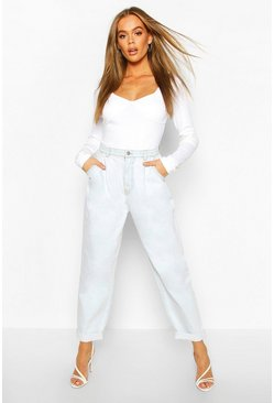 Light blue High Waisted Boyfriend Jean