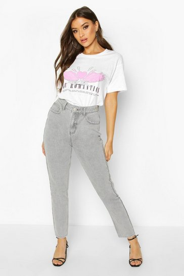 Grey High Waisted Mom Jean