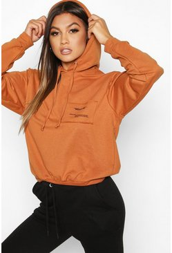 Dam Camel Wear Me Slogan Balloon Sleeve Hoody