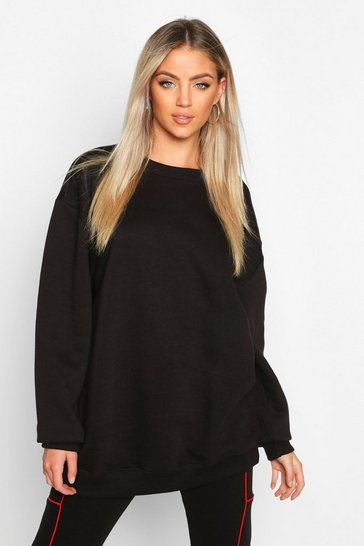Womens Black The Basic Boyfriend Sweatshirt