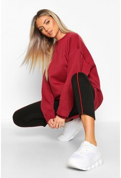 Womens Burgundy The Basic Boyfriend Sweatshirt