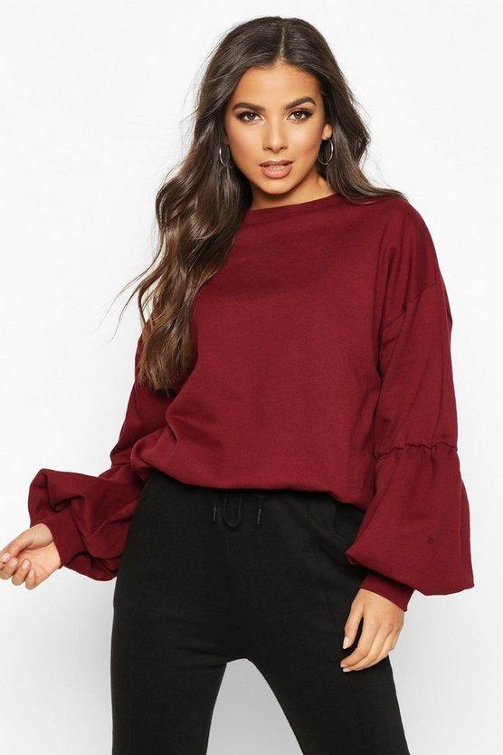 puff-sleeve-sweatshirt by boohoo