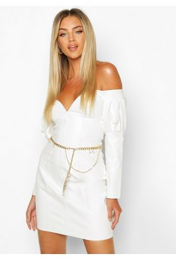 Dam Gold Chain & Pearl Waist Belt