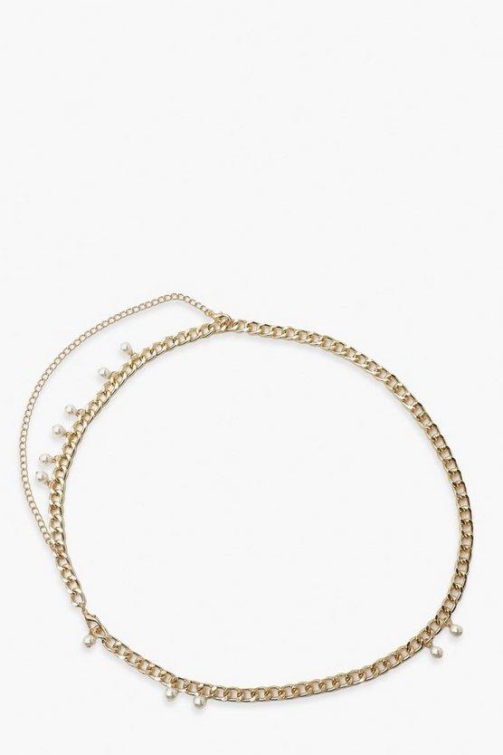 Chain & Pearl Waist Belt