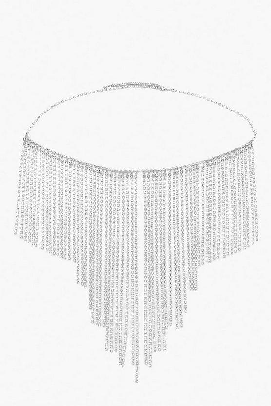 Diamante Tassel Chain Belt