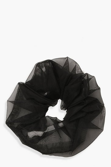 Black Organza Scrunchies